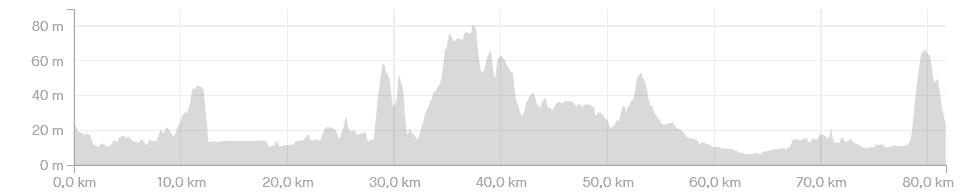 Hoogteprofiel De Proloog - 80 km - wielercafes.nl