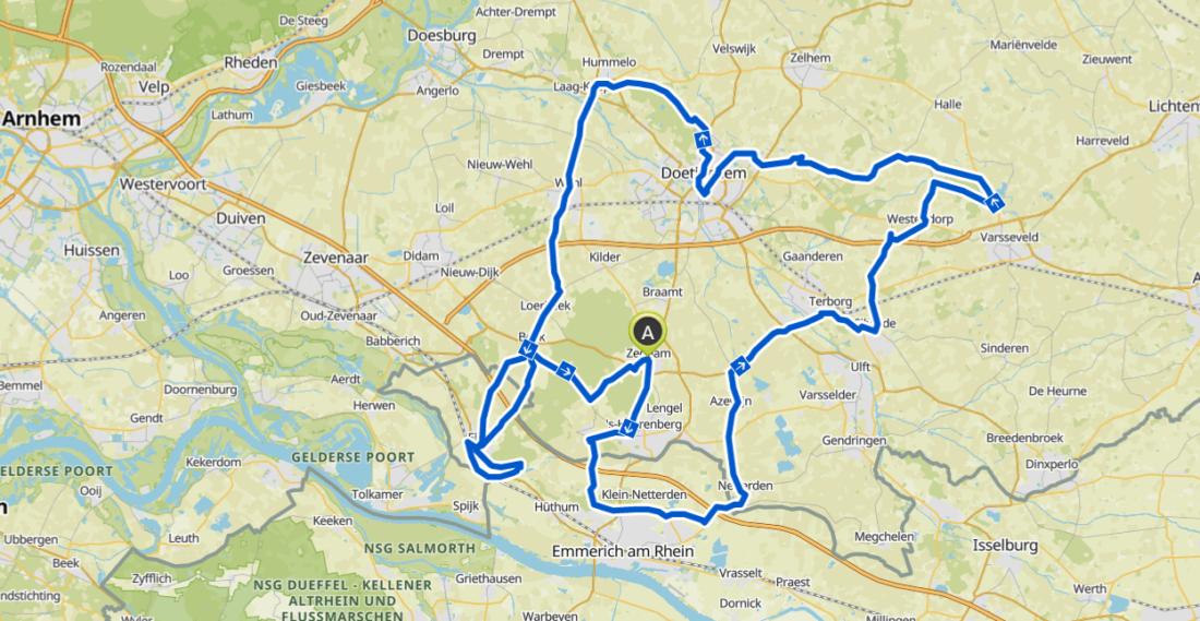 Route Berc Bike - 90 km Rondje Wielercafes - wielercafes.nl