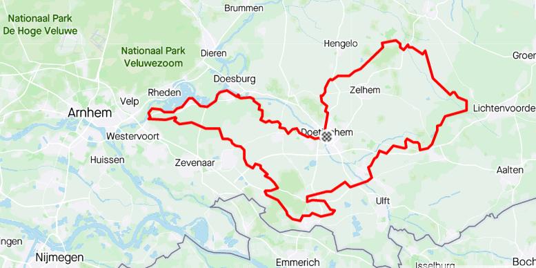 Route Parijs is nog ver - 120km - wielercafes.nl