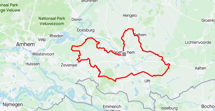 Route Parijs is nog ver - 90km - wielercafes.nl