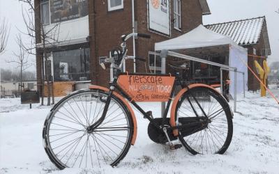 14theRoad in de sneeuw - wielercafes.nl