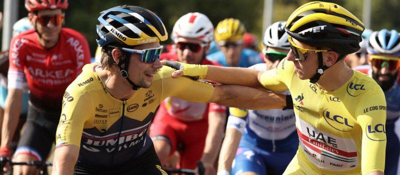 Pogacar & Roglic in Tour de France 2020 - wielercafes.nl